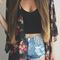 Half sleeves floral cardigan|disheefashion
