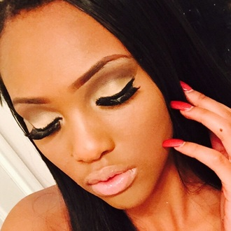make-up nude lipstick eyelashes nyx mascara mac cosmetics