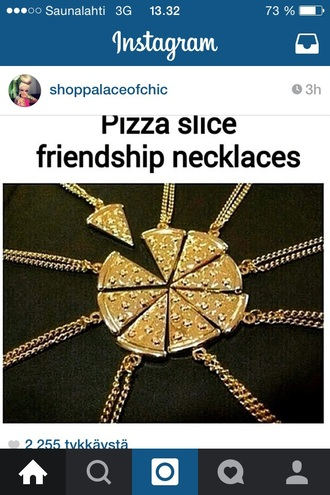 jewels gold necklace pizza jewerly gold necklace