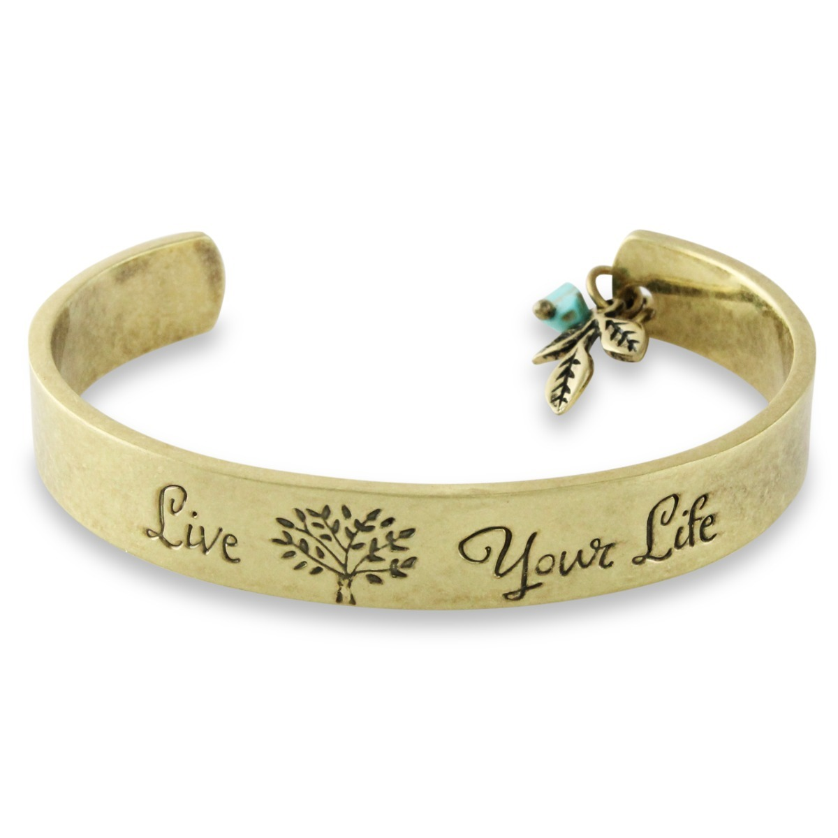 Live Your Life Gold Cuff Bracelet