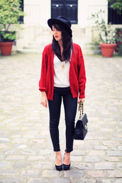 sweater,red,knitwear