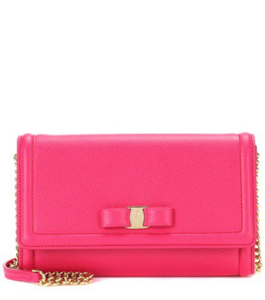 Salvatore Ferragamo mini bag shoulder bag leather pink