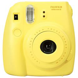 Fuji Instax Mini 8 Yellow Instant Camera (P10GLB3080A) - dabs.com