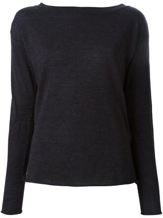 jumper women classic wool grey sweater