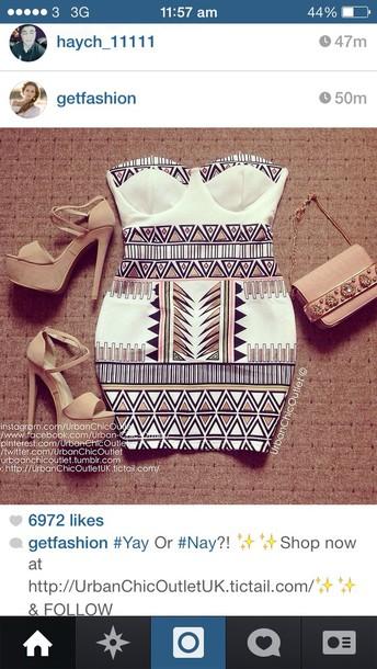dress aztec tan shoes purse