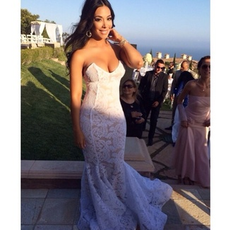 white dress wedding dress wedding clothes see through see through dress dress 2014 see through dresses