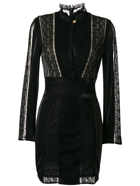 Pierre Balmain dress women spandex lace black