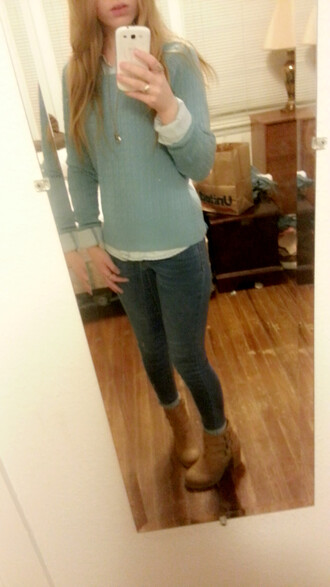 sweater ankle boots