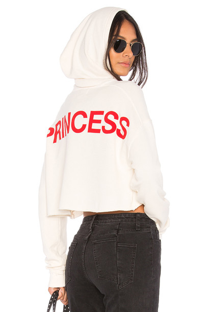 joe's jeans hoodie cropped princess cream sweater