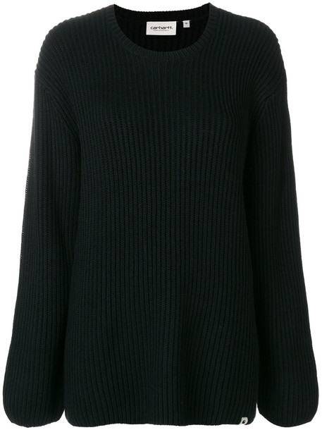sweater long women black wool