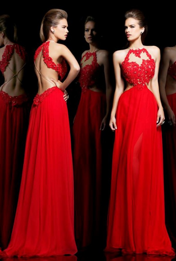 red dress formal dress