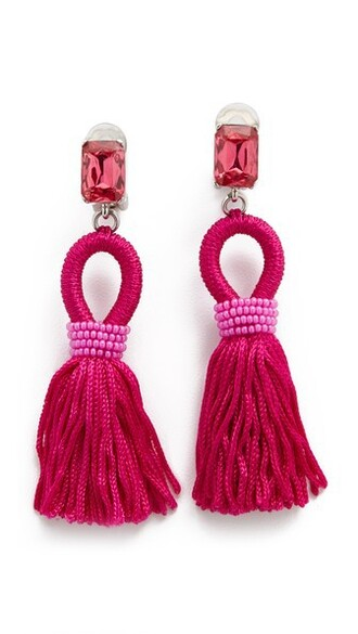 short tassel earrings silk jewels