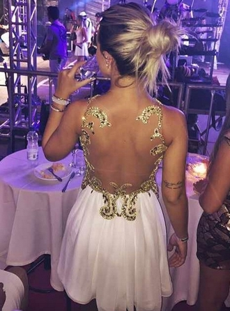 dress golden prom backless white golden instagram golden white urgent back backless backless dress prom dress backless prom dress white dress white gold dress long elegant white golden prom dress