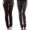 Women's fashionable polyester skinny fleece pants