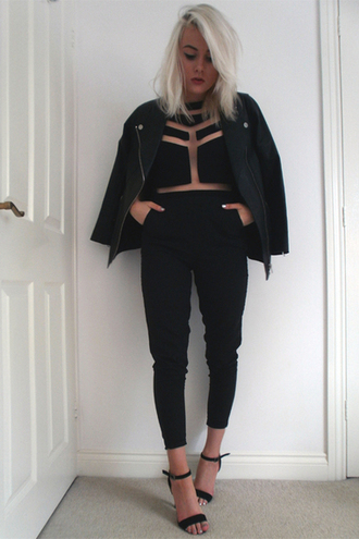 jumpsuit mesh black jumpsuit
