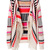 Beige Contrast Color Indian Style Fringe Knit Cardigan - Choies.com