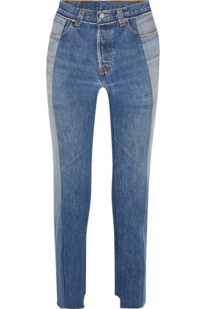 Vetements jeans denim high