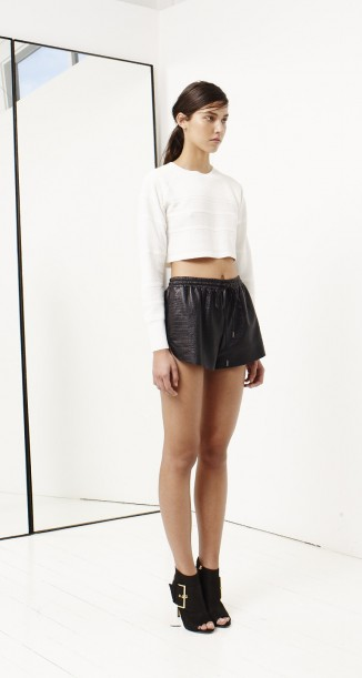 BRAVERY LEATHER SHORT - Shorts