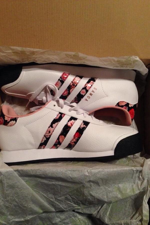 shoes  samoa  adidas  floral