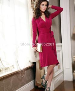 Elegant Hot Fashion Design Star Loves Slim Waist Elegant White Dot Half Sleeve Pencil Blue Dress For Party   Amazing Shoes UK