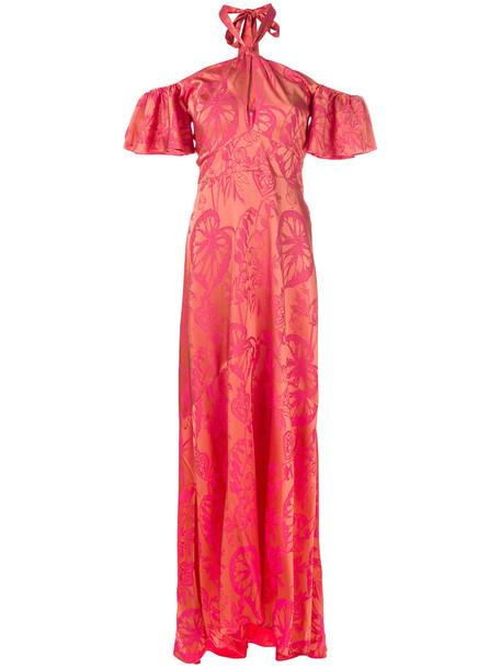 dress women spandex silk yellow orange