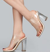 shoes,fsj shoes,clear shoes,clear,trendy,high heel sandals