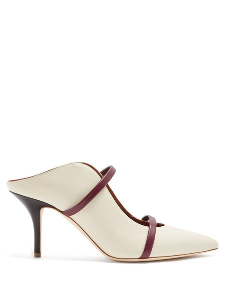 MALONE SOULIERS mules leather white shoes