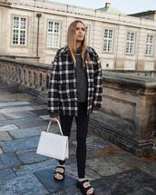 sweater,black and white,pernille teisbaek,blogger,instagram,fall outfits,shirt