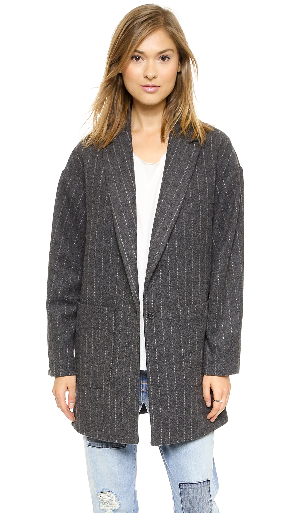 Elizabeth and james carson striped coat