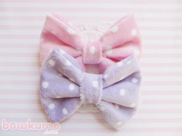 hat lilac soft pastel pink accessories kawaii bows hair bow hair accessories pink pastel polka dots