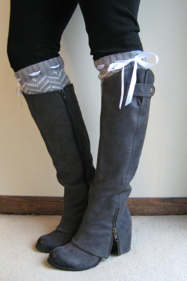 Sweater Boot Socks Boot Cuffs High Socks Shoes Boots ...