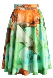skirt,chicwish,feast of chic midi skirt in green,midi skirt,printed skirt,summer skirt,spring skirt,chicwish.com