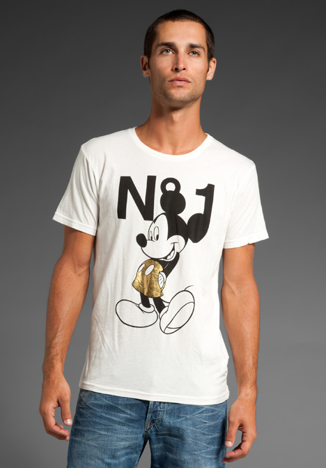 Joyrich n1 gold mickey tee in white at revolve clothing