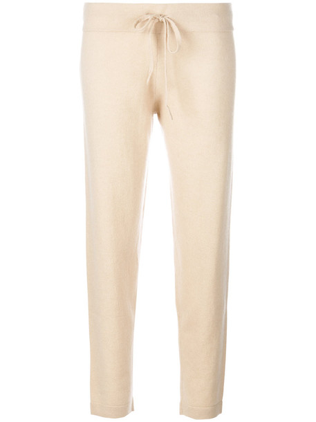 Cashmere In Love cropped women nude wool knit pants