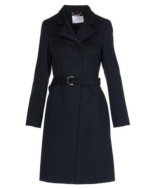 Hugo Boss coat open blue