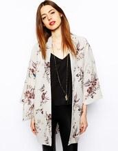 top,kimono,floral