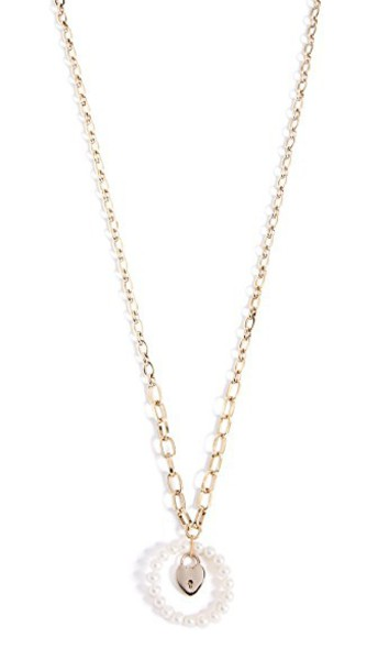 Lulu Frost long necklace pendant pearl gold jewels
