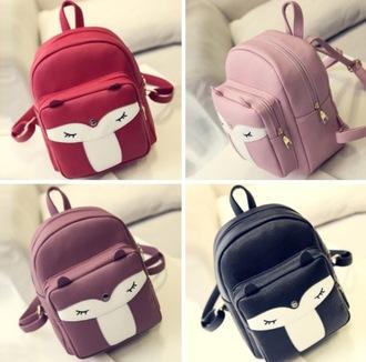 bag pink black dope cute sweet red backpack
