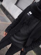 sweater,black,coat,charcoal,menswear