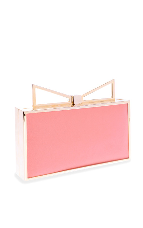 Lady Me Two-Tone Silk Clutch by Sara Battaglia - Moda Operandi