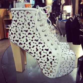 shoes white heels platform shoes flowers