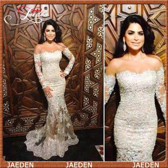 dress long sleeve dress evening dress boat neck 2015 prom dress 2015 dress jaedenbridal