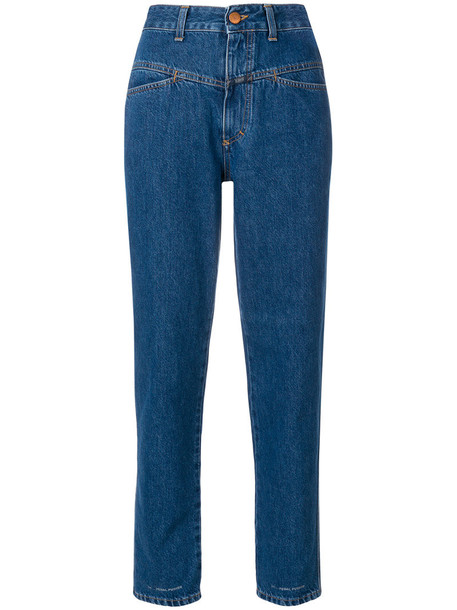 Closed jeans high women cotton blue
