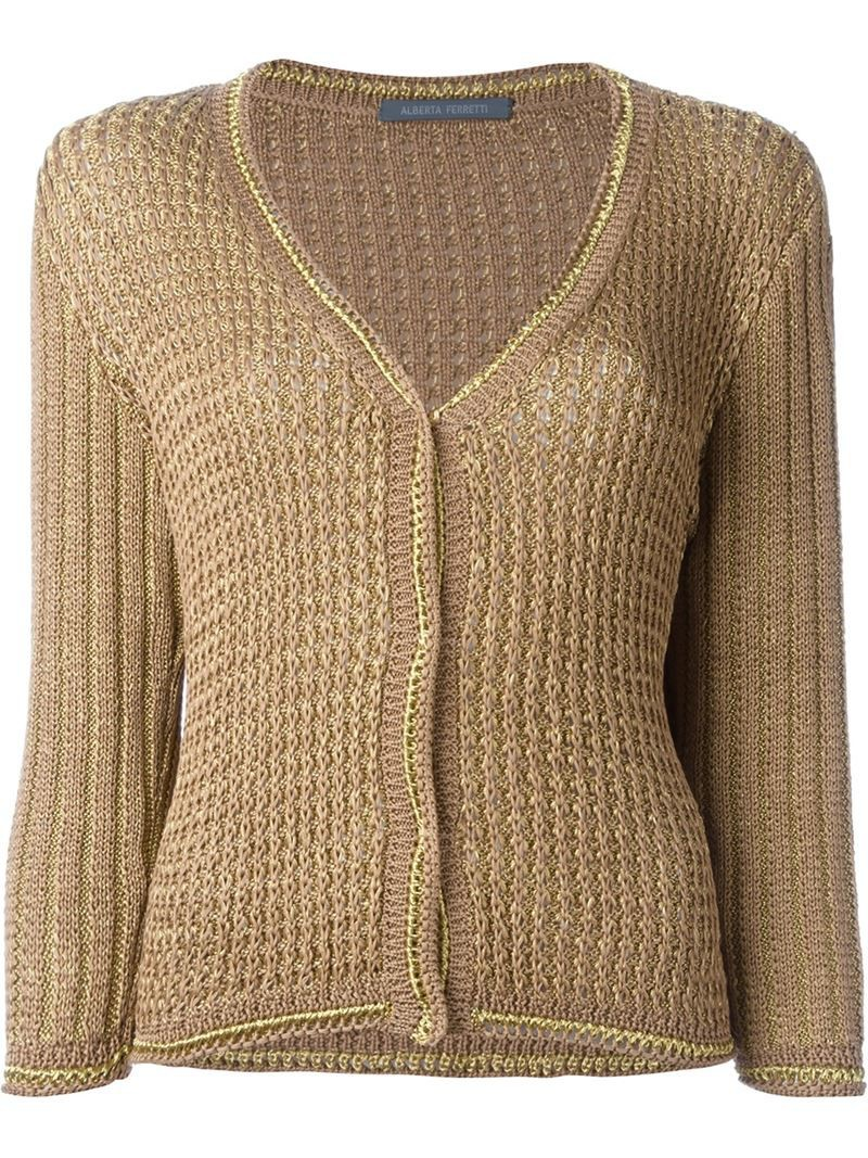 Alberta Ferretti loose fit knit jumper, Women's, Size: 38, Brown ...