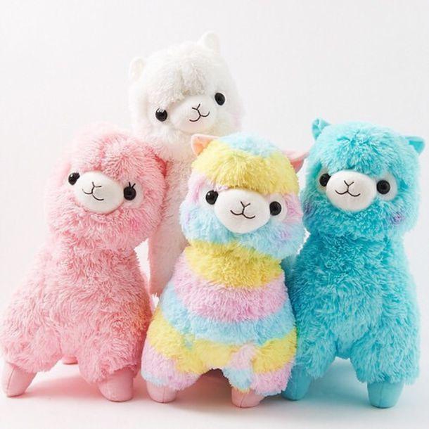 home accessory twaimz llama stuffed animal pastel girly
