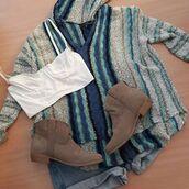 sweater,beach sweater,hoody,hoodie,tribal pattern,boho,trendy,love,stripes,beachwear,cute,casual,summer day,lovestitch,bohemian