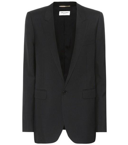 Saint Laurent blazer wool black jacket