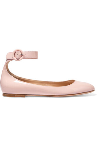 ballet baby flats ballet flats leather pink baby pink shoes