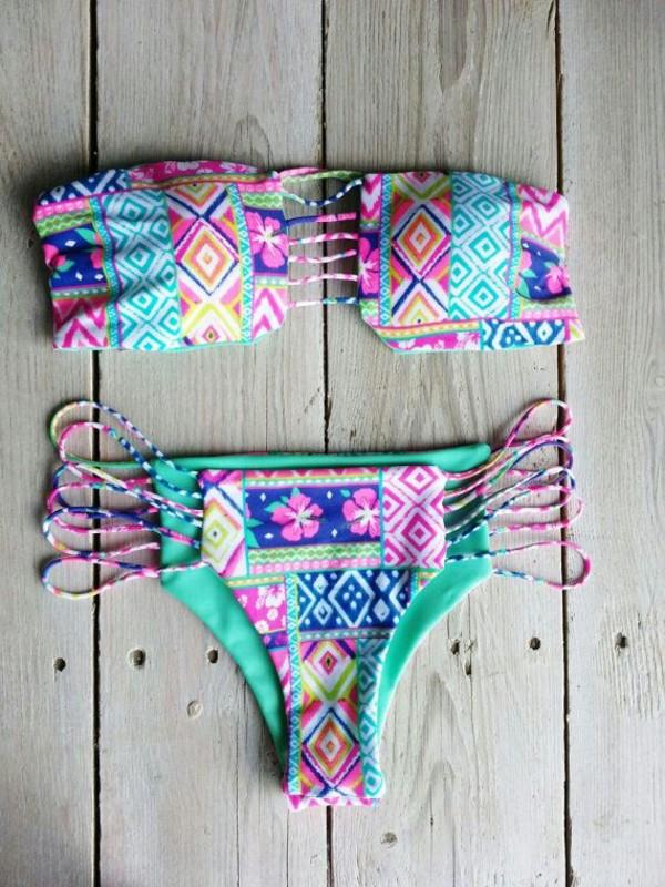 underwear bikini aztec colorful