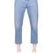 Contrast waistband cotton denim jeans